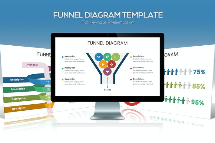 Thumbnail for Funnel Chart Template for Keynote Presentation