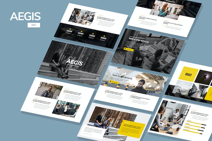 Thumbnail for AEGIS - Agency Keynote Template