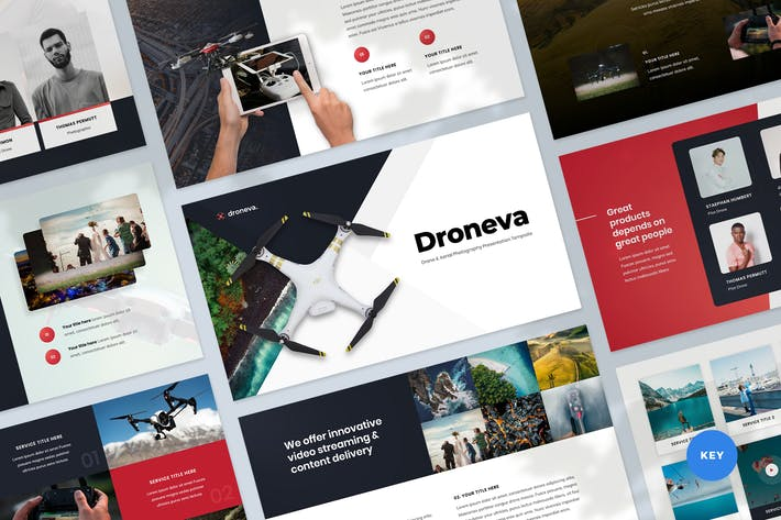 Thumbnail for Drone Photography Keynote Presentation Template