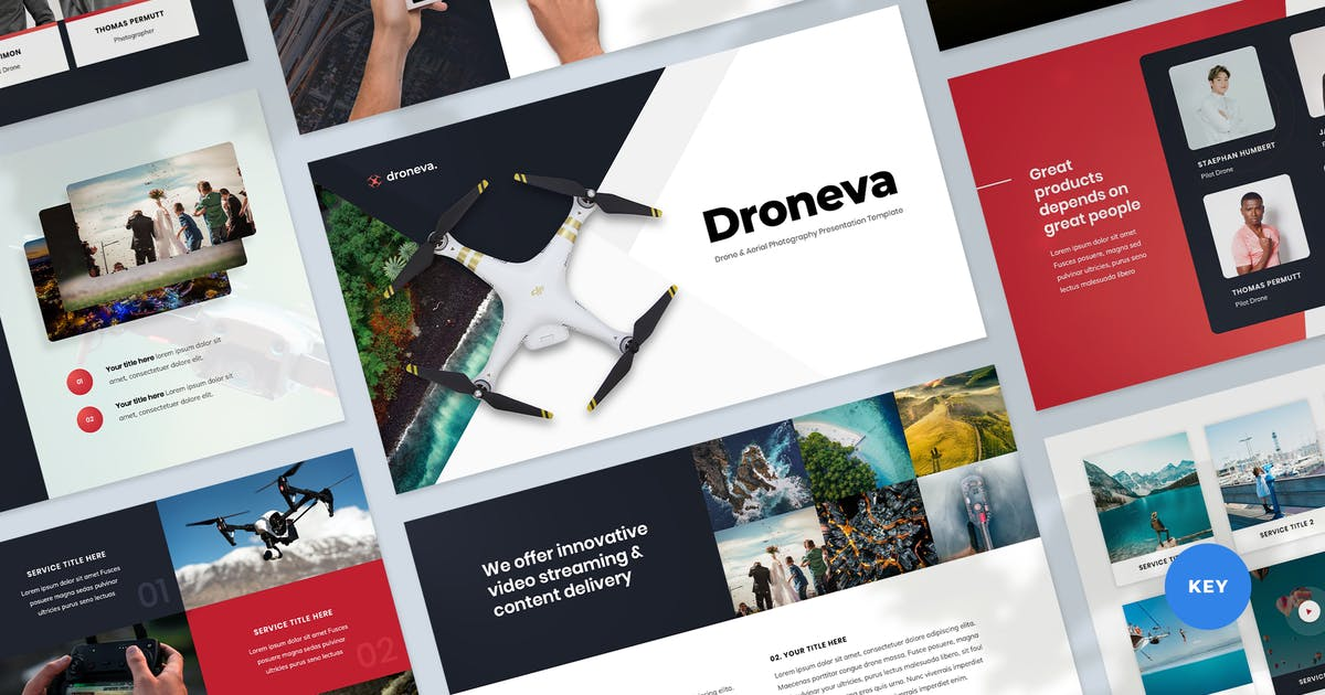 Download Drone Photography Key Presentation Template by Krafted