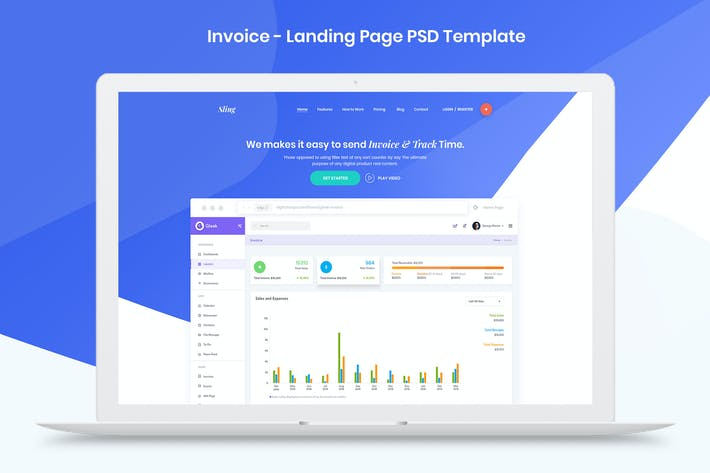 Thumbnail for Invoice - Landing Page PSD Template