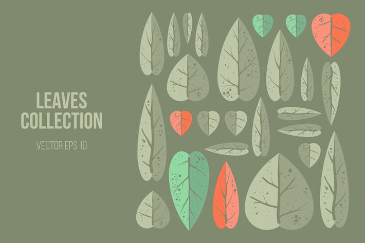 Thumbnail for Leaves Vector Clipart Collection