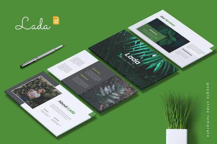 Thumbnail for LADA - Botanical Google Slides Template