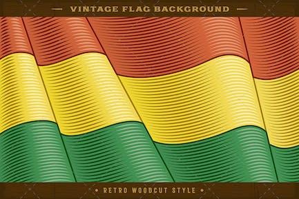Vintage Flag Of Bolivia. Close-up Background