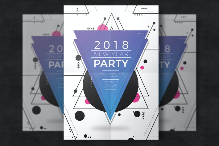 Thumbnail for New year party template