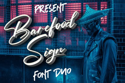 Barefood Sign | Font Combination