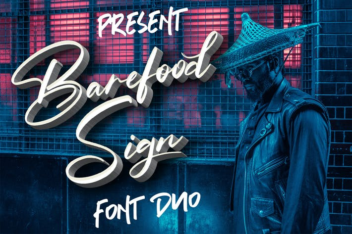 Thumbnail for Barefood Sign | Font Combination