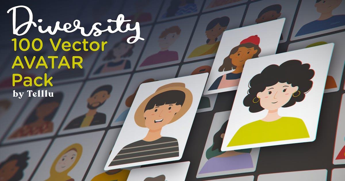 Download Diversity 100 Vector Avatar Pack by telllu