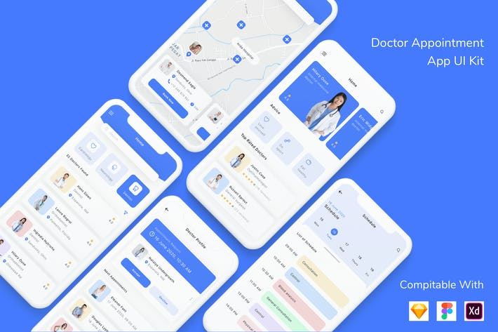 Thumbnail for Doctor Appointment App UI Kit