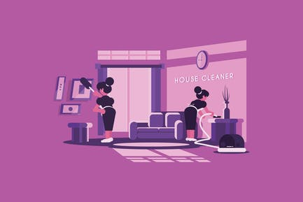 House Cleaner - Vector Activity