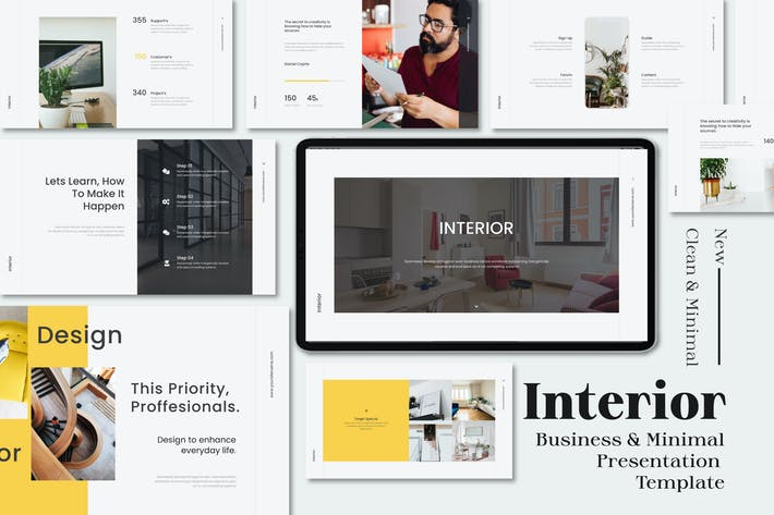 Thumbnail for Interior Business & Minimal Powerpoint Template