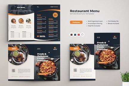 Restaurantmenü Bifold Broschüre