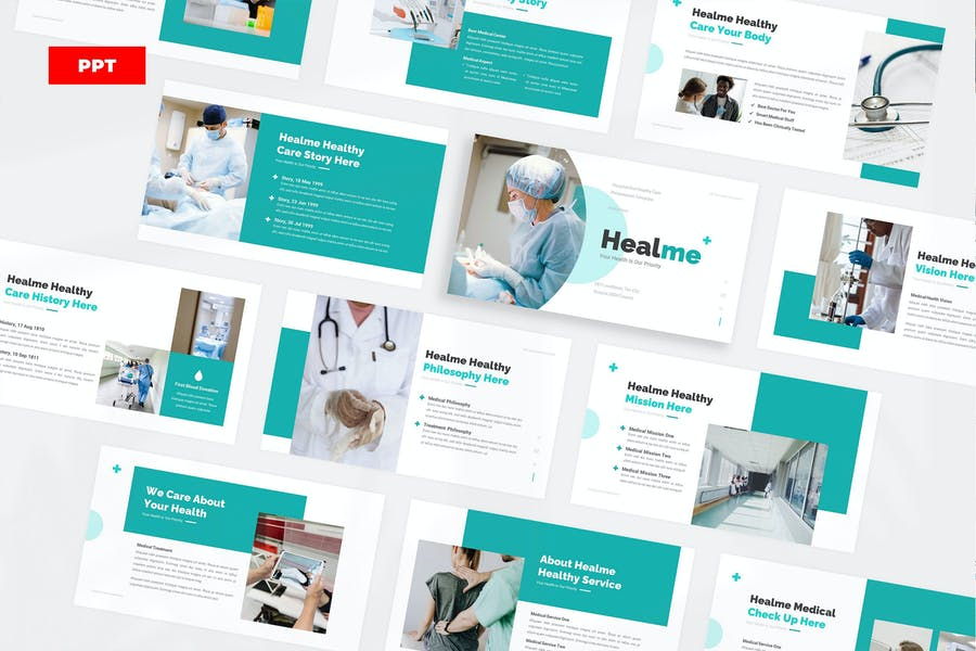 Healme Healthy Care PowerPoint UP