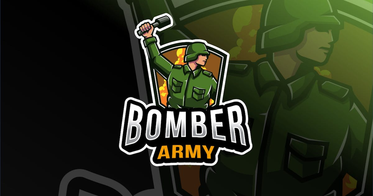 Download Bomber Army Esport Logo Template by IanMikraz