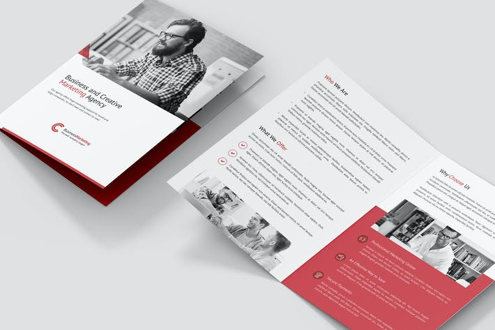 Cover Image For Brochure – Business Marketing Bi-Fold