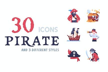 Elements 40 Pirate icon set