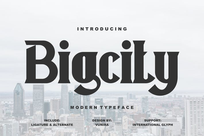 Thumbnail for Bigcity | Modern Typeface Font