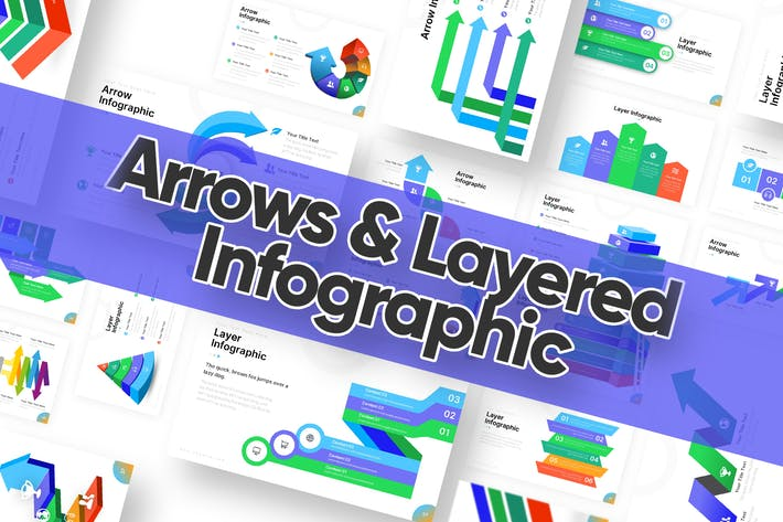 Arrows and Layered Infographic Powerpoint Template