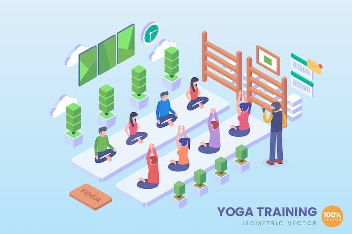 Thumbnail for Isometric Yoga Training Vector Concept