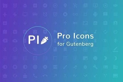 Pro Icons for Gutenberg WordPress Editor