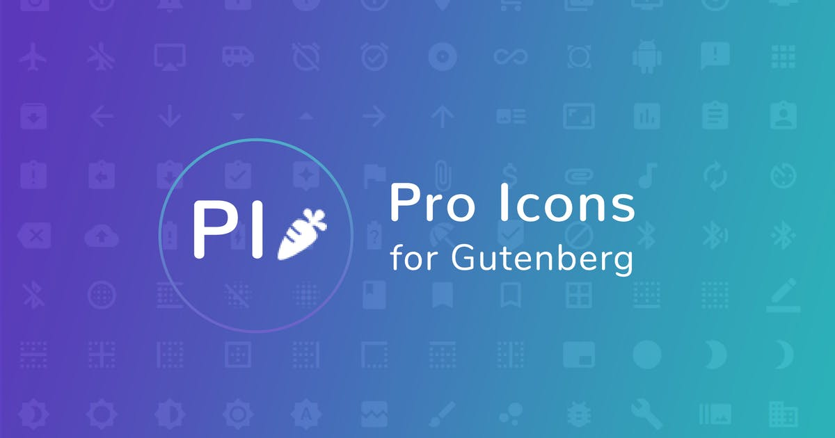 Download Pro Icons for Gutenberg WordPress Editor by AA-Team
