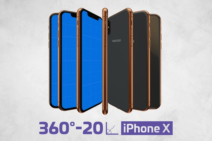 Thumbnail for iPhone X Kit Mockup