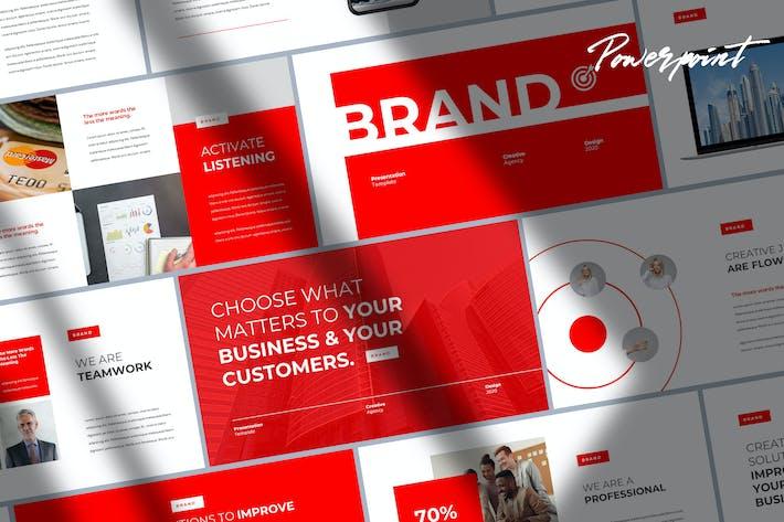 Thumbnail for Бренд - Цифровой маркетинг Powerpoint Шаблон