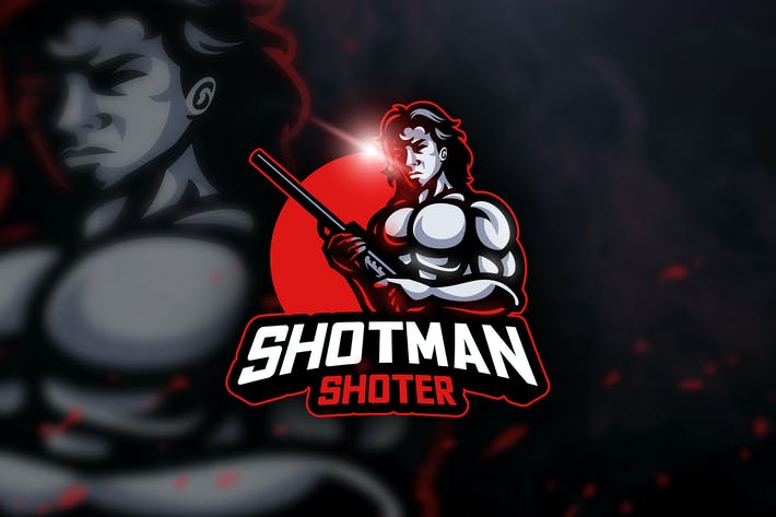 Thumbnail for Shotman Shoter - Mascot & Esport Logo