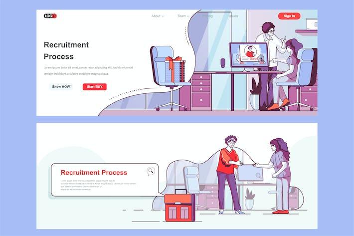 Thumbnail for Pied de page d'en-tête de recrutement ou contenu intermédiaire