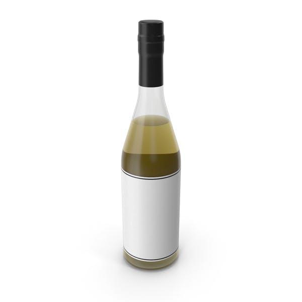 Бутылка алкоголя Черный Белый