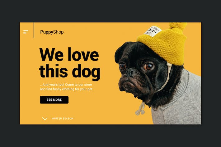 Thumbnail for Pet Store - Landing Page