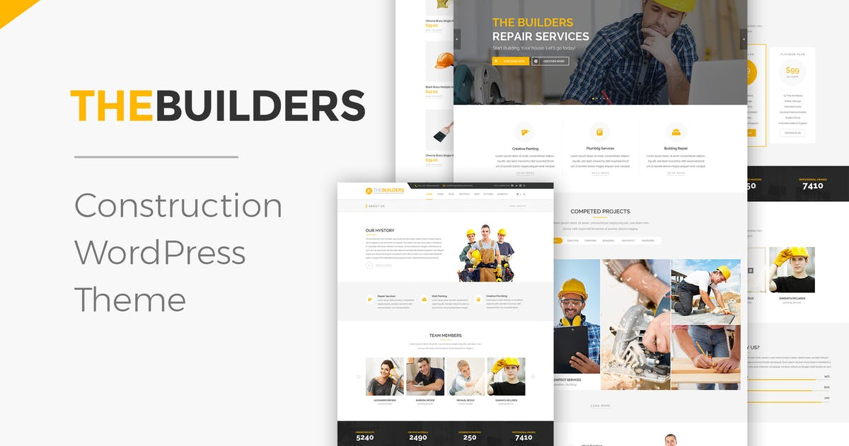 Download The Builders - Construction WordPress Theme by ninzio