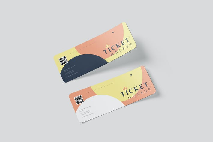 Thumbnail for Ticket Round Corner Mockup Set