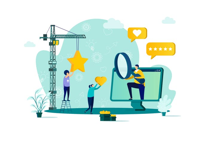 Thumbnail for Trend Watcher Flat Concept Vector Illustration