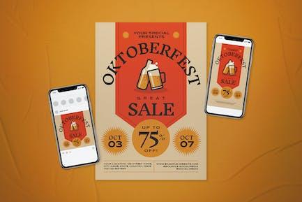 Oktoberfest Sale Flyer Set