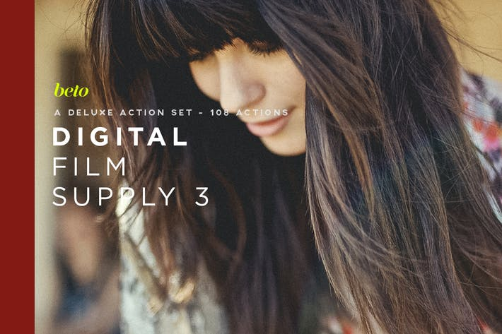 Thumbnail for Digital Film Supply 3 Action Bundle