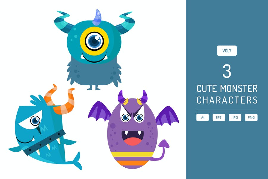 Cute Monster Characters Vol.7