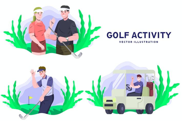 Golf - Aktivitäts-Vektor-illustration