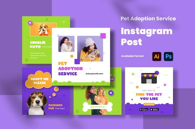 Pet Adoption Service Instagram Post