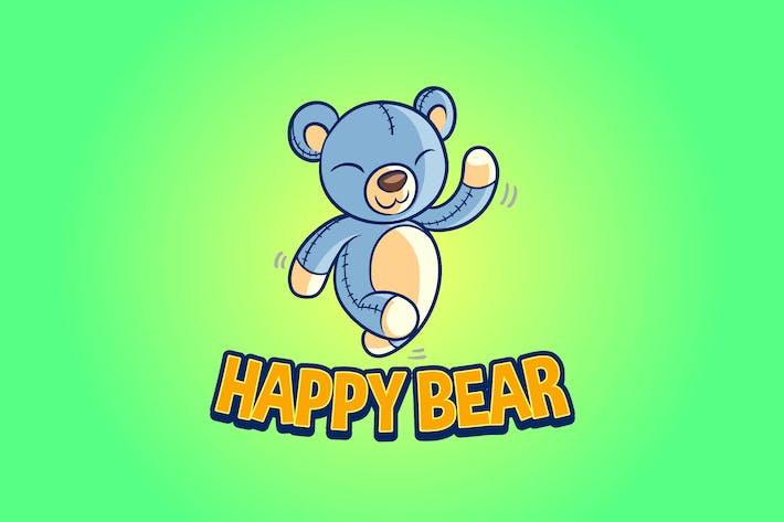 Thumbnail for Happy Bear - Bear Doll Mascot Logo