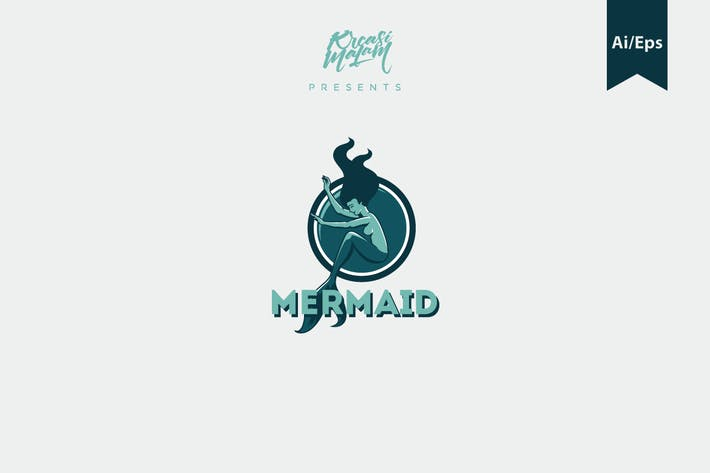 Thumbnail for Mermaid Logo Template