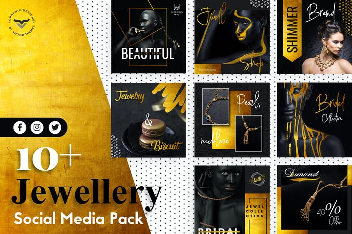Thumbnail for Jewellery Social Media Templates