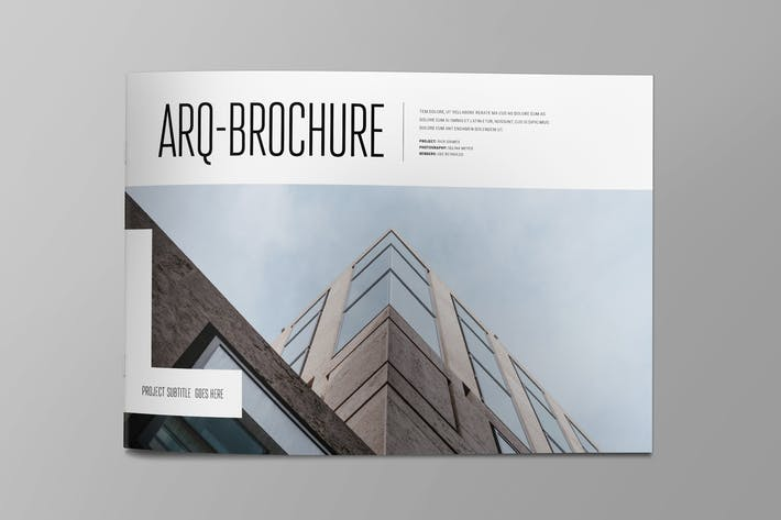 Cover Image For Simple Minimal Architecture Brochure