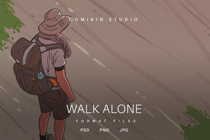 Walk Alone Illustration
