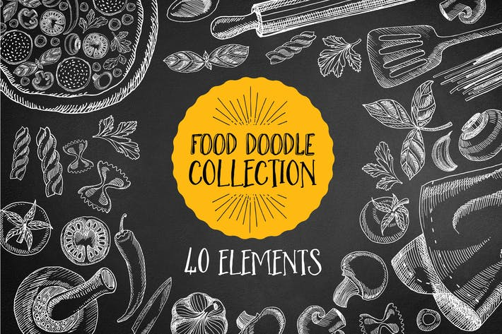 Thumbnail for Food Doodle Elements