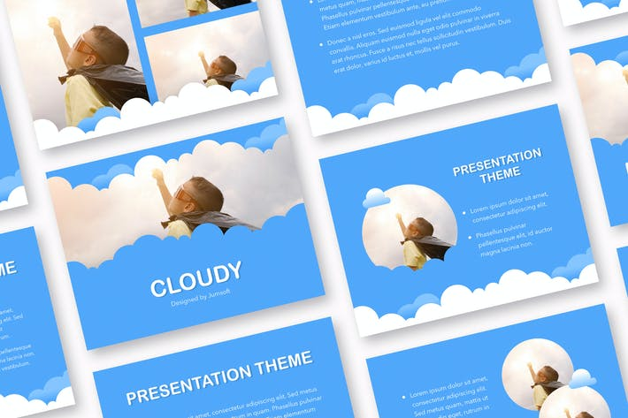 Thumbnail for Cloudy PowerPoint Template