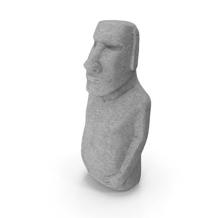 Estatua de Isla de Pascua Moai Blanco