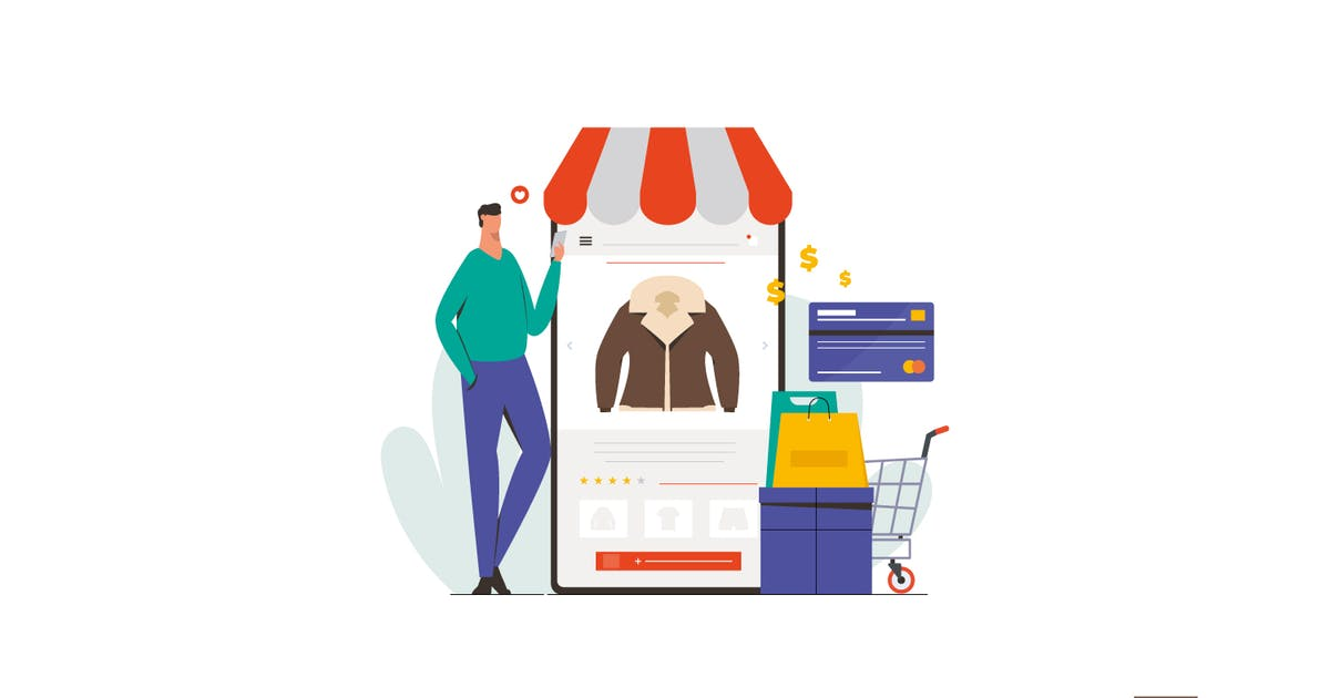 Download Online Shopping Illustration by visuelcolonie