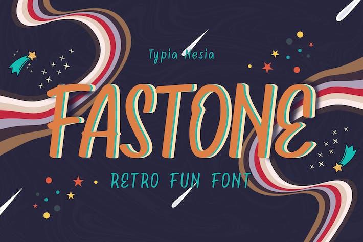 Thumbnail for Fastone Fancy Retro Font