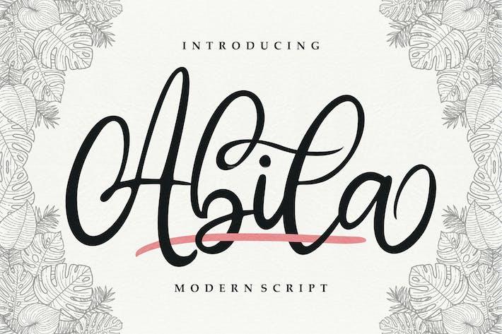 Thumbnail for Abila   Modern Script